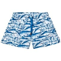 Sunuva Blue Boys Shark Swim Shorts Blue