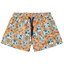 Sunuva Orange Boys Mexican Skull Swim Shorts Orange