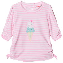 Sunuva Pink Baby Girl Ice Cream Rash Vest Pink