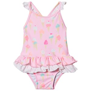Image of Sunuva Pink Baby Girl Ice Cream Frill Swimsuit 12-18 months (2844042725)