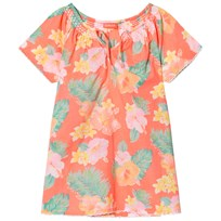 Sunuva Orange Girls Aloha Kaftan Dress Orange Floral