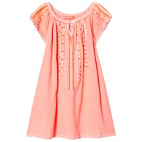 Sunuva Pink Girls Cheesecloth Dress Pink