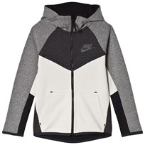 NIKE Tech Fleece Full Zip Hoodie Grey LIGHT BONE/BLACK/ANTHRACITE