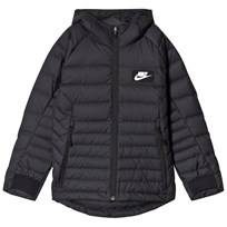 NIKE Black Sportswear Padded Jacket BLACK/BLACK/WHITE