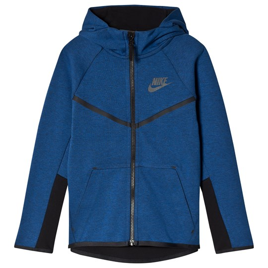 NIKE Tech Fleece Full Zip Hoodie Blue GYM BLUE/HTR/BLACK/ANTHRACITE