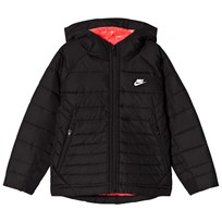 NIKE Black Hooded Jacket with Pink Lining 023