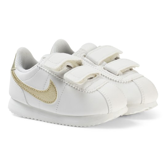 NIKE Cortez Basic SL Infant Sneakers White/Gold SUMMIT WHITE/MTLC GOLD STAR