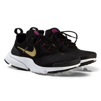 NIKE Presto Fly Junior Sneakers Black/Gold BLACK/METALLIC GOLD-TEA BERRY-WHITE