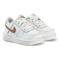 NIKE Air Force 1 Infant Sneakers White/Bronze SUMMIT WHITE/MTLC RED BRONZE
