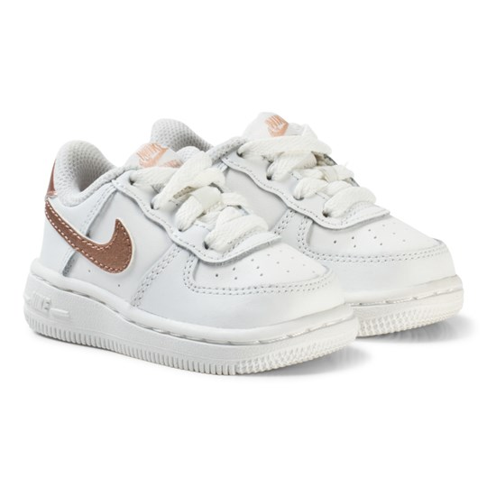 NIKE Air Force 1 Infant Sneakers WhiteBronze