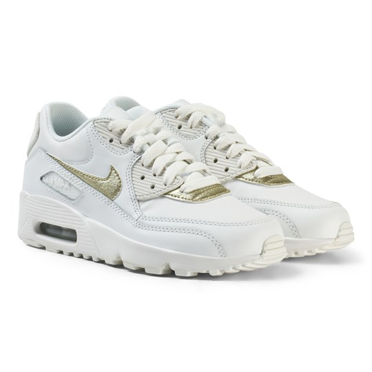 reputable site daa6b 8b8d2 ... ireland nike air max 90 läder junior sneakers vit guld summit white  mtlc gold star 33913 ...