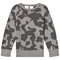 Kardashian Kids Grey Intarsia Knit Jumper Black
