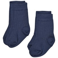 Lillelam 2-Pack Merino Wool Socks Blue Kongeblå