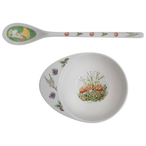 Image of Elsa Beskow Bowl & Spoon Tomtebobarnen Bowl & Spoon Tomtebobarnen (2882746905)