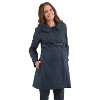 Mom2Mom Coat Solid Darkgrey Black