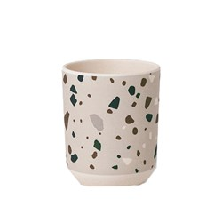 ferm LIVING Bamboo Cup - Terrazzo - Grey