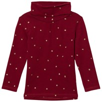 Cyrillus Red Star Print Polo Neck 6676