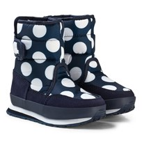 Rubber Duck Patterned Snow Jogger Navy White Dot MARIN MED VITA PRICKAR