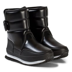 Rubber Duck Snow Jogger Boots Faux Washed Leather Black