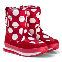 Rubber Duck Snow Jogger Boots Red White Dot RÖD VITA PRICKAR
