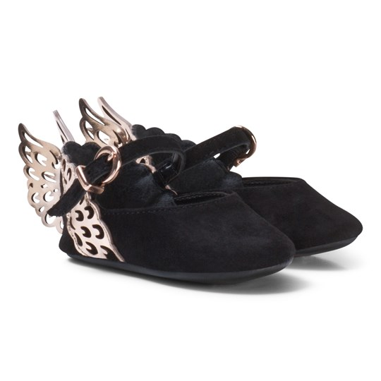 Sophia Webster Mini Evangeline Baby Shoes Black/Rose Gold Black & Rose Gold