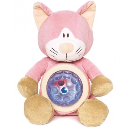 Teddykompaniet Night Lamp Cat Pink Multi