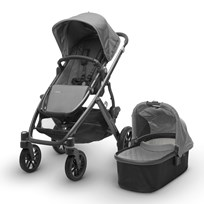 UPPAbaby VISTA Stroller Pascal (Grey) - Carbon Frame Silver