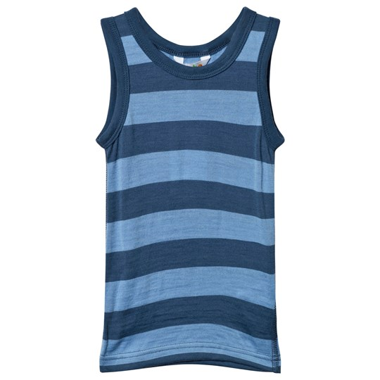 Joha Block Striped Undershirt Blue Block Stripe Blue