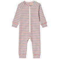 Mini Rodini Stripe Rib One-Piece Off White White