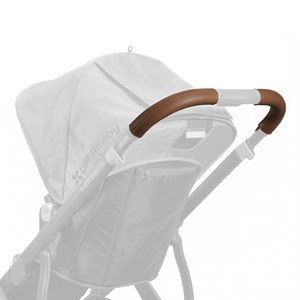 Image of UPPAbaby Vista Leather Handlebar Covers- Saddle (Available In May 2017) (2847442563)