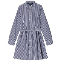 Ralph Lauren Striped Bengal Dress Navy/White Navy & White