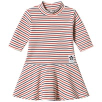 Mini Rodini Stripe Rib Dance Dress Off White White