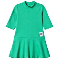 Mini Rodini Solid Rib Dance Dress Green Green