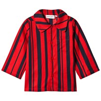 Mini Rodini Odd Stripe Woven Shirt Red Red