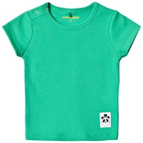 Mini Rodini Solid Rib Short Sleeved Tee Green Green
