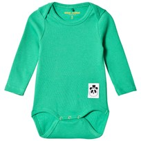 Mini Rodini Solid Rib Baby Body Green Green