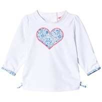 Sunuva White and Liberty Heart Baby Rash Vest White & Blue