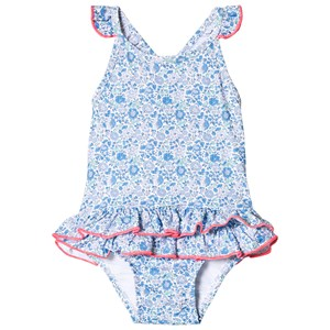 Image of Sunuva Blue Liberty Frill Baby Swimsuit 12-18 months (2847439405)