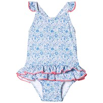 Sunuva Blue Liberty Frill Baby Swimsuit Blue