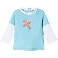 Sunuva Blue Airplane Baby Rash Vest Blue