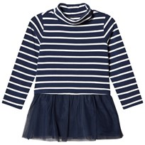 Lands End Navy Striped Turtleneck Tunic RDE