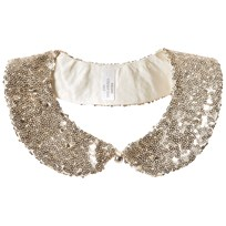 Lands End Gold Sequin Sparkle Collar 6DS