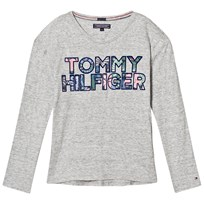 Tommy Hilfiger Grey Heart Branded Tee 054