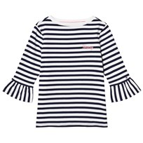 Tommy Hilfiger Navy and White Peplum Tee 002