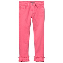 Tommy Hilfiger Pink Nora Ruffle Hem Jeans 601