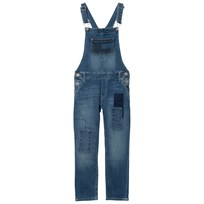 Tommy Hilfiger Mid Wash Patch Denim Dungarees 911