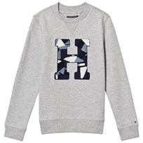 Tommy Hilfiger Grey Geometric H Sweatshirt 054