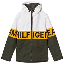Tommy Hilfiger Cream and Khaki Branded Padded Parka 381