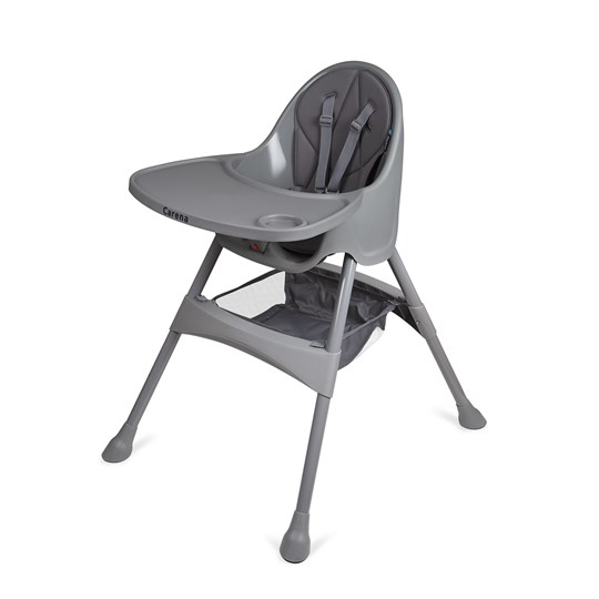 Carena Matvik High Chair with Tray Grey Black
