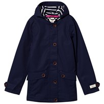 Tom Joule Navy Waterproof Hooded Coat French Navy